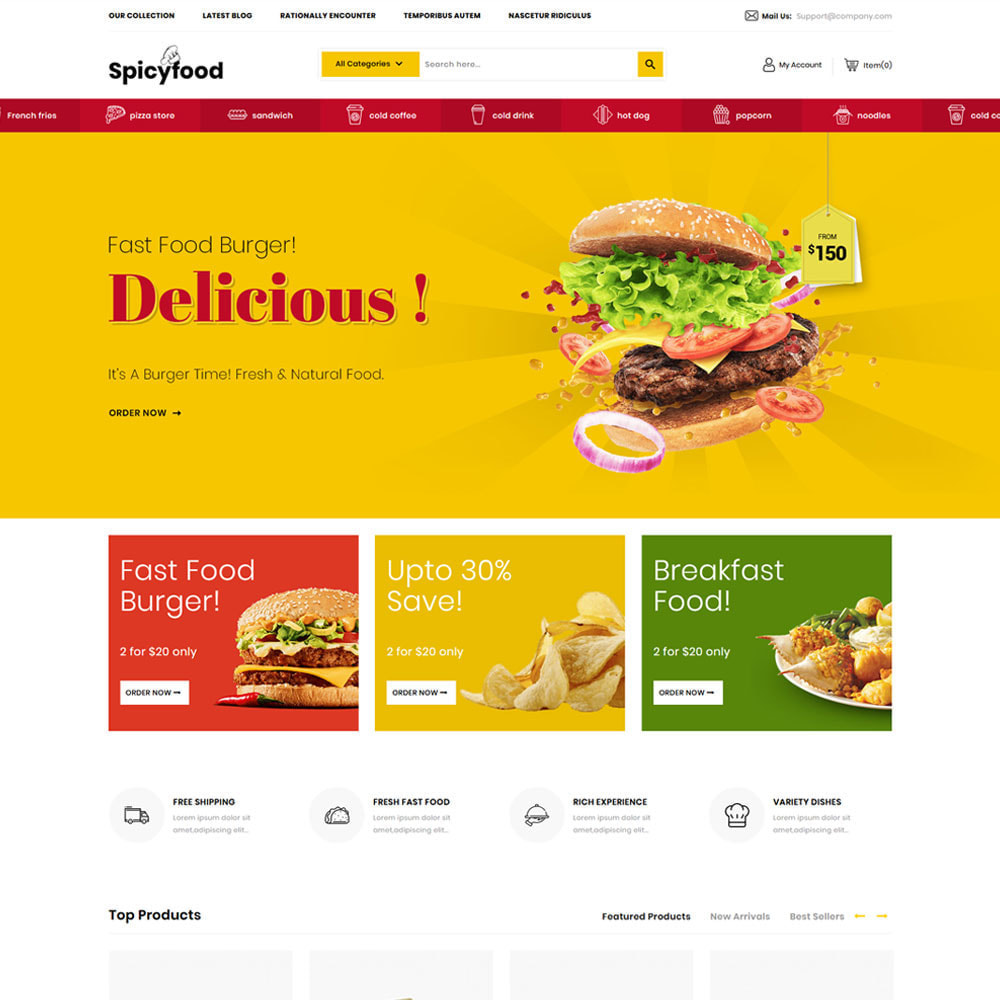 theme - Alimentation & Restauration - Spicy Food - Le magasin d'alimentation Mega - 6