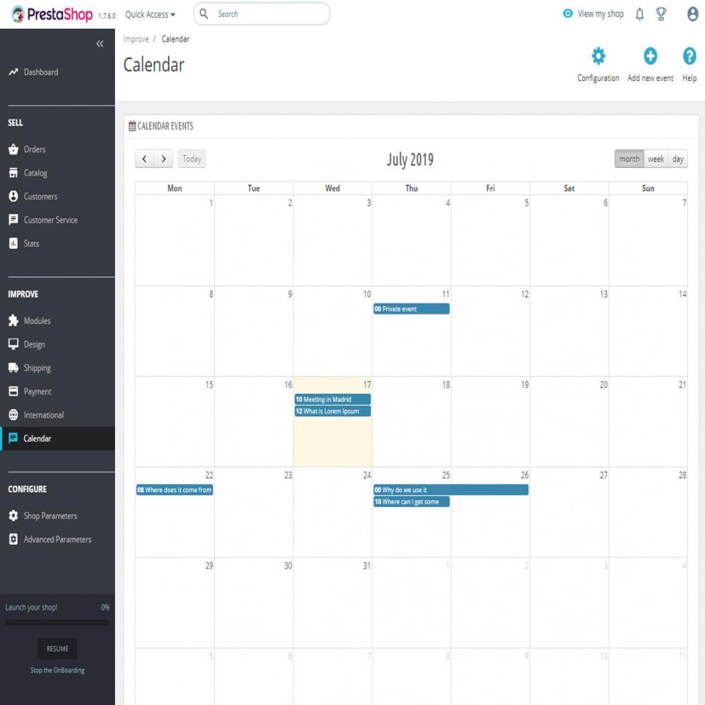module - Blog, Foro y Noticias - Calendario completo de eventos - 9