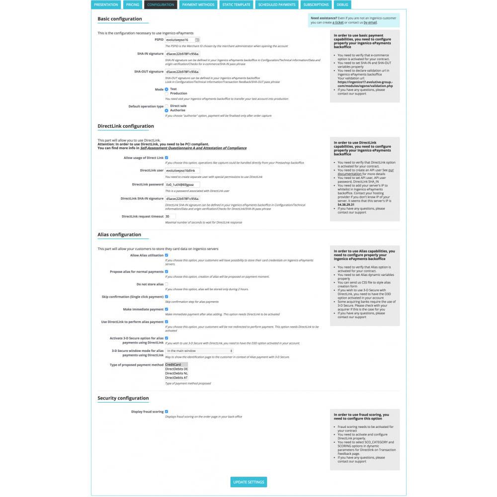 module - Pagamento por cartão ou por carteira - Ingenico ePayments SCA-Ready (Deprecated) - 3