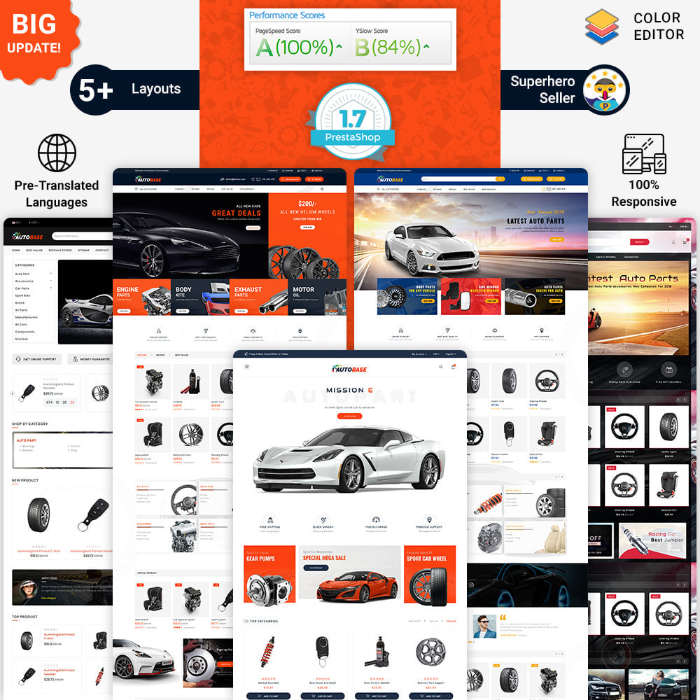 theme - Carros & Motos - Autobase - The Best Supermarket Auto Store - 1