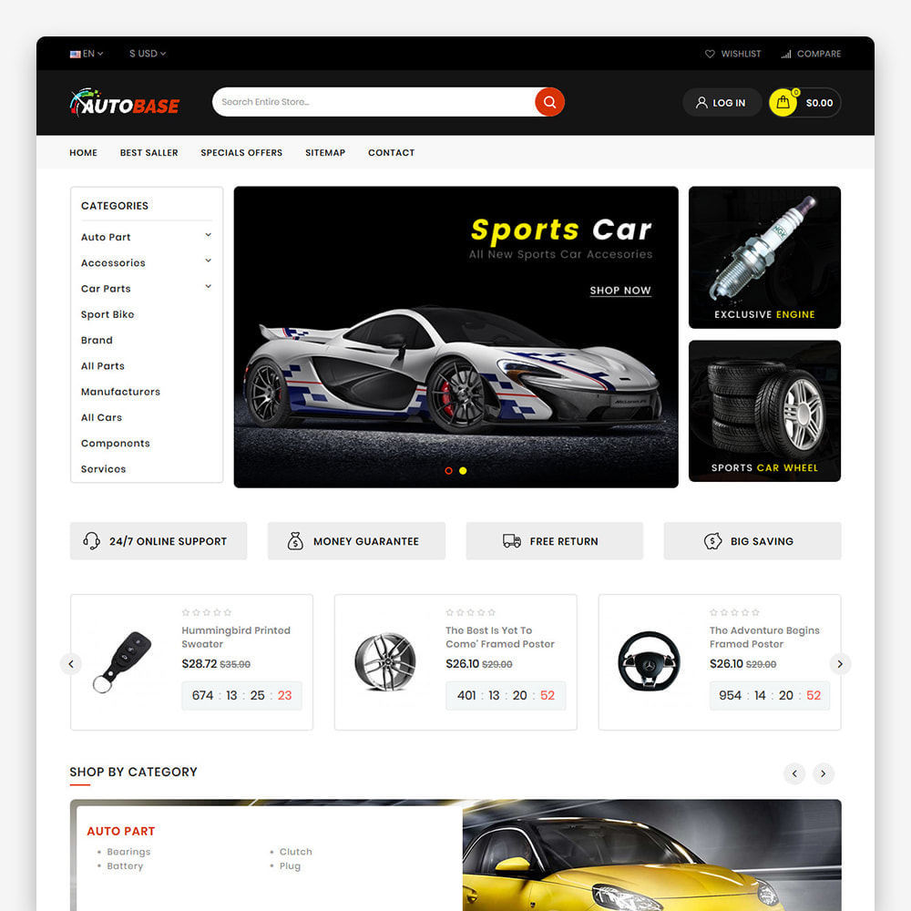 theme - Carros & Motos - Autobase - The Best Supermarket Auto Store - 6