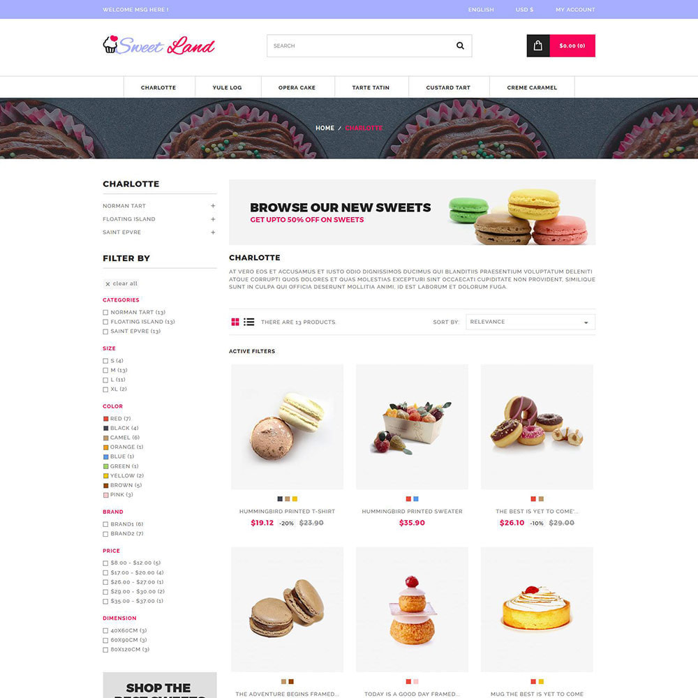 theme - Food & Restaurant - Sweet Cake - Biscuit Desserts Store - 3