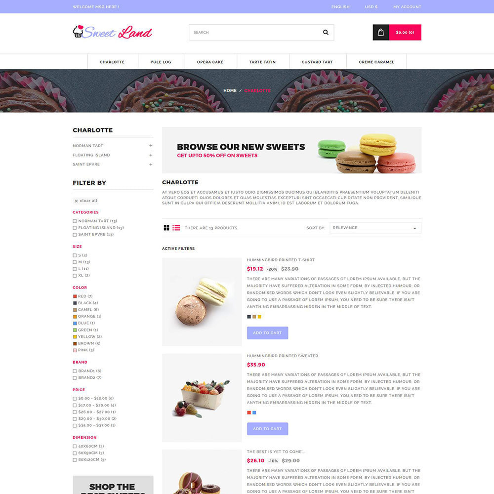 theme - Food & Restaurant - Sweet Cake - Biscuit Desserts Store - 4