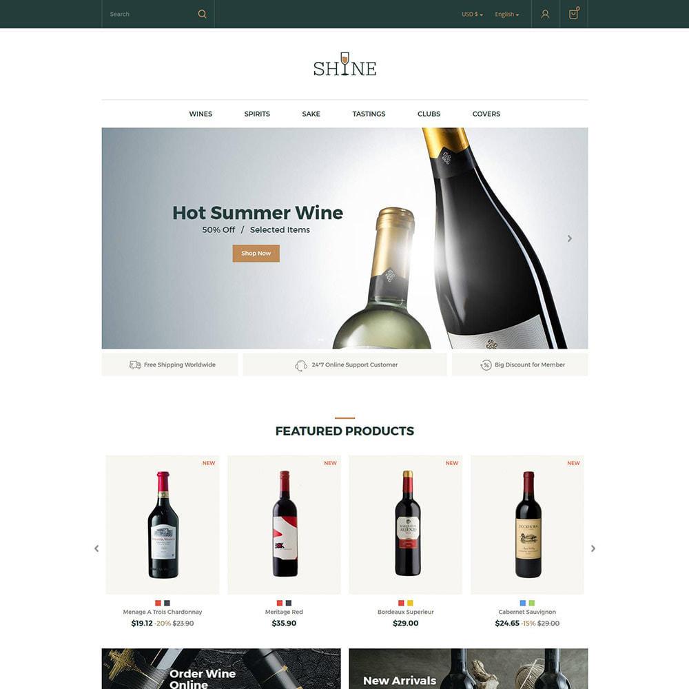 theme - Drink & Tobacco - Shine Wine - Alcohol Store - 2