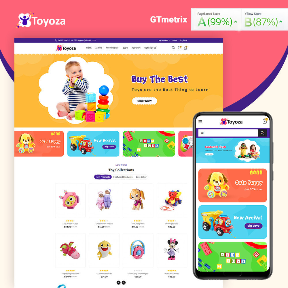 theme - Kids & Toys - Toyoza Toy Store - 1