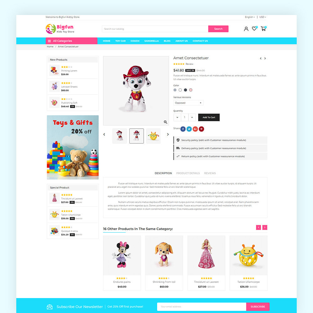 theme - Zabawki & Artykuły dziecięce - Bigfun Kids Toy Store - 7