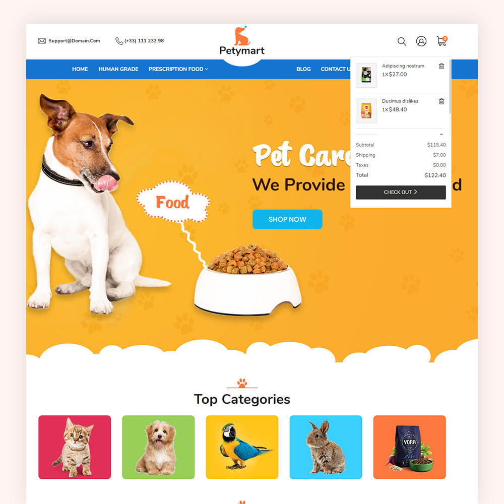 theme - Animals & Pets - Petymart Pet Store - 4