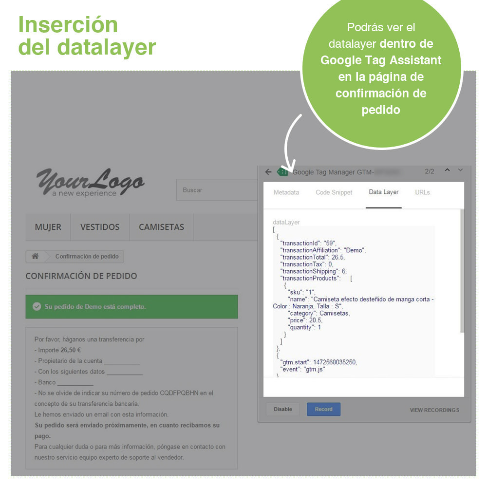 module - Informes y Estadísticas - Google Tag Manager - PRO - 8