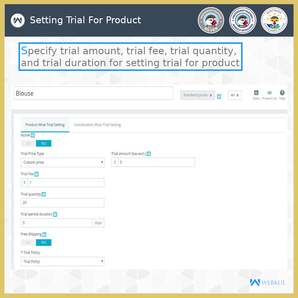 module - Déclinaisons & Personnalisation de produits - Product Trial | Try Before Purchase - 9
