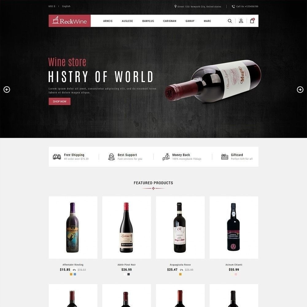 theme - Drank & Tabak - Wijn - winkel voor alcoholische dranken - 3
