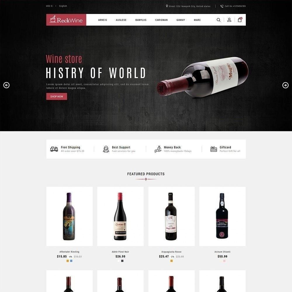 theme - Напитки и с сигареты - Wine - Магазин алкогольных напитков - 2