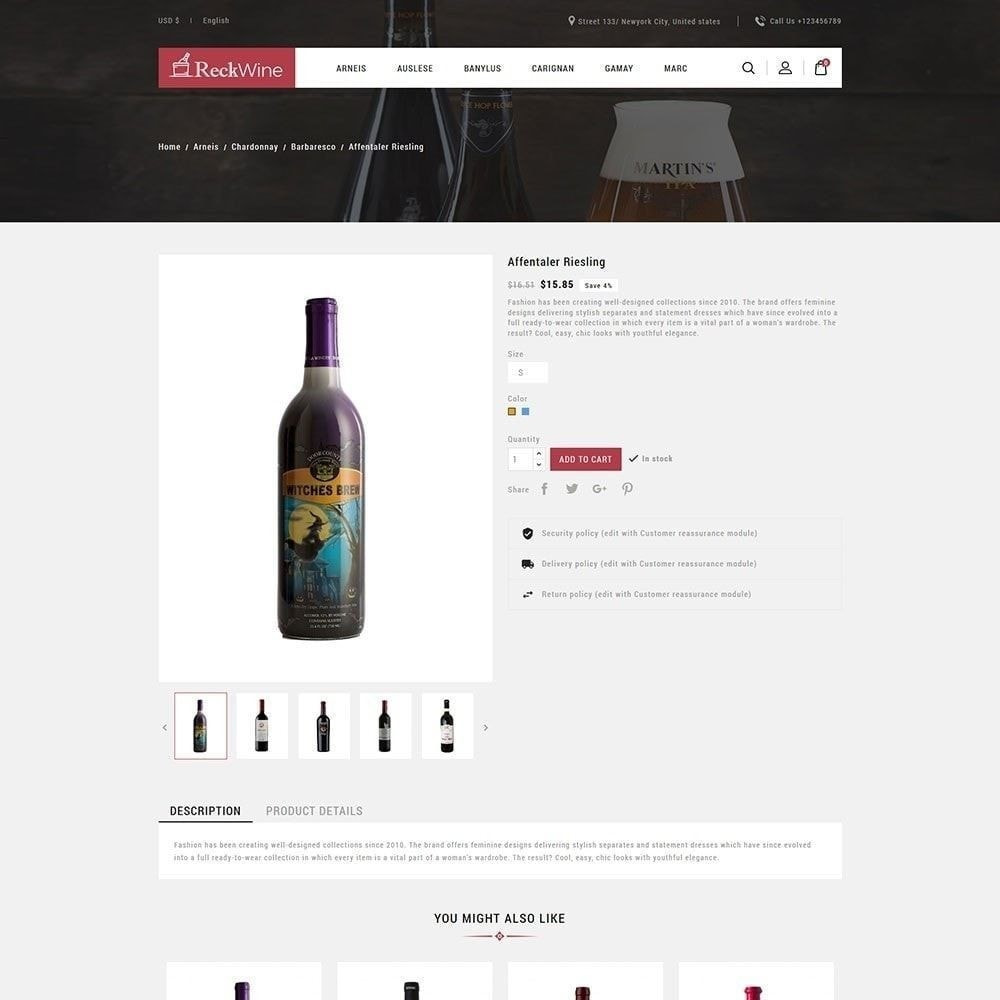 theme - Напитки и с сигареты - Wine - Магазин алкогольных напитков - 6