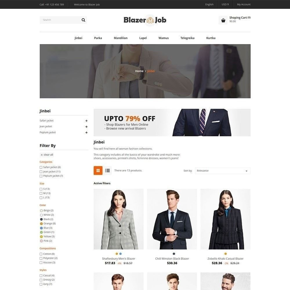 theme - Moda & Calçados - Ternos Blazers - Loja de Moda - 4