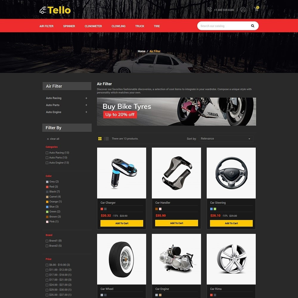 theme - Autos & Motorräder - Tello Auto - Auto schwarz dunkel - 4