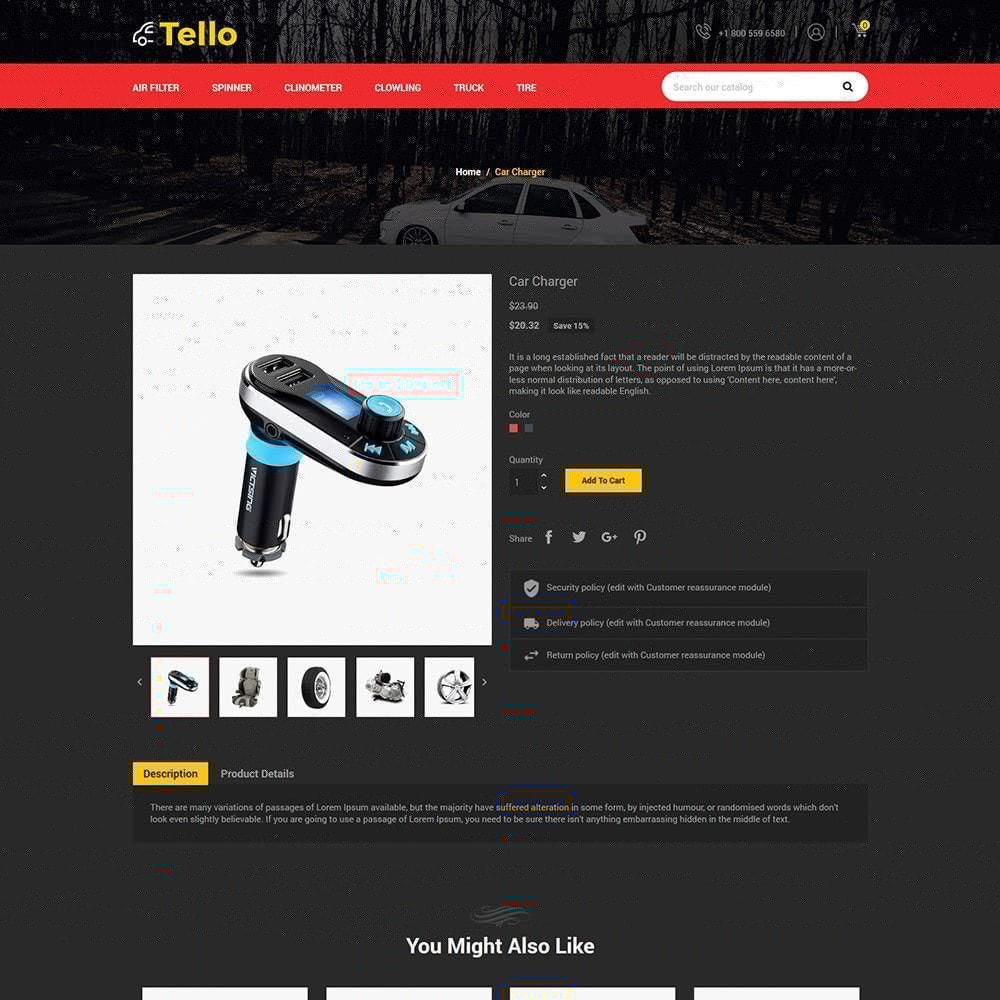 theme - Autos & Motorräder - Tello Auto - Auto schwarz dunkel - 6