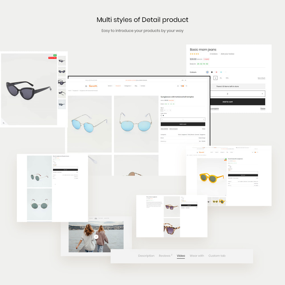 theme - Fashion & Shoes - Garrett - Glasses, Fashion & Accessories Store - 11
