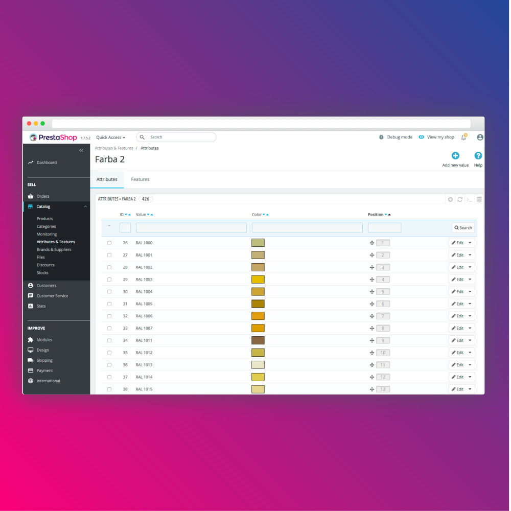 module - Combinations & Product Customization - Bulk colors import - 3