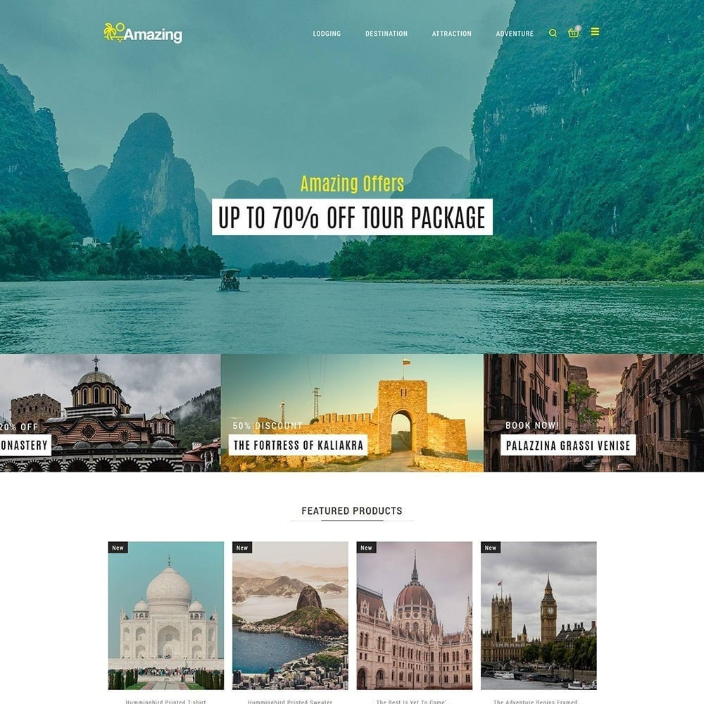 theme - Deportes, Actividades y Viajes - Amazing Travel - Tienda de boletos de Tours - 3