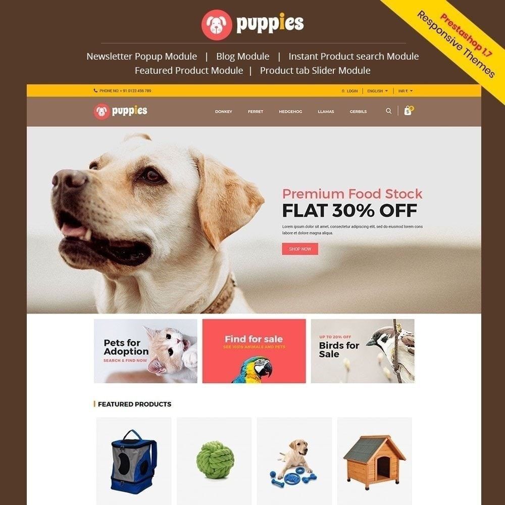 theme - Animaux - Puppy Pet - Magasin pour animaux chats - 2