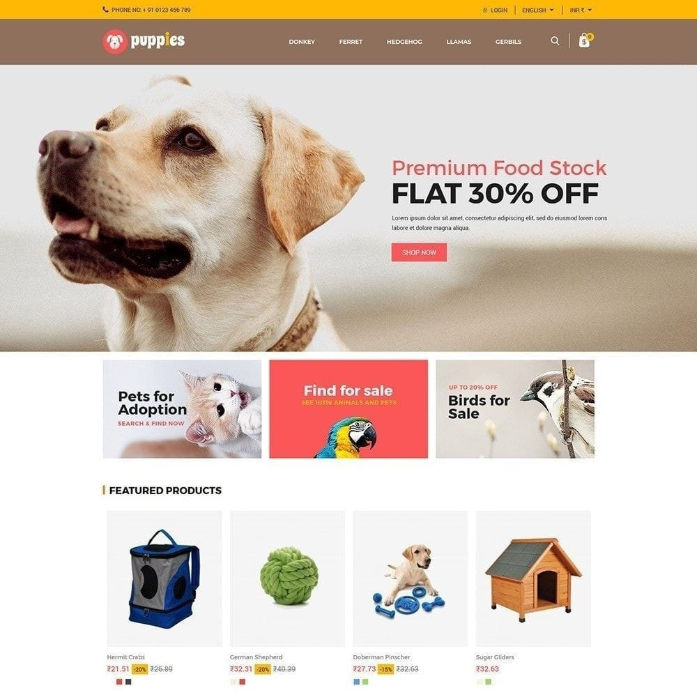 theme - Animaux - Puppy Pet - Magasin pour animaux chats - 6