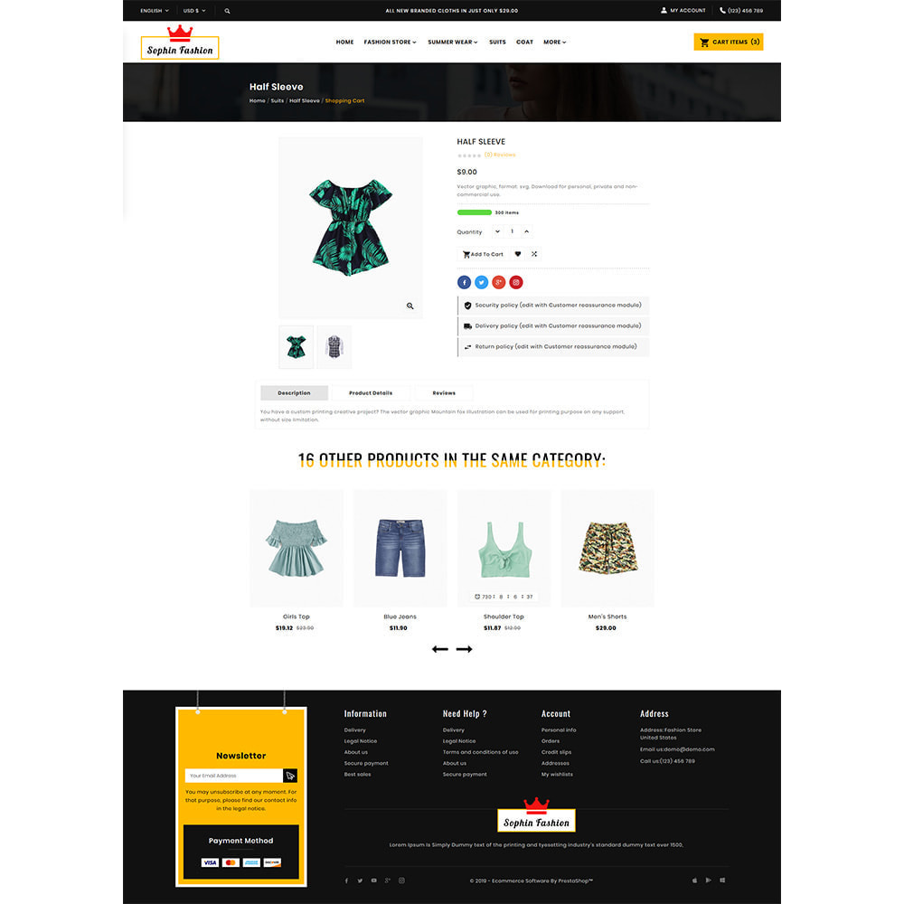theme - Fashion & Shoes - Sophin Fashion Premium Store - 4
