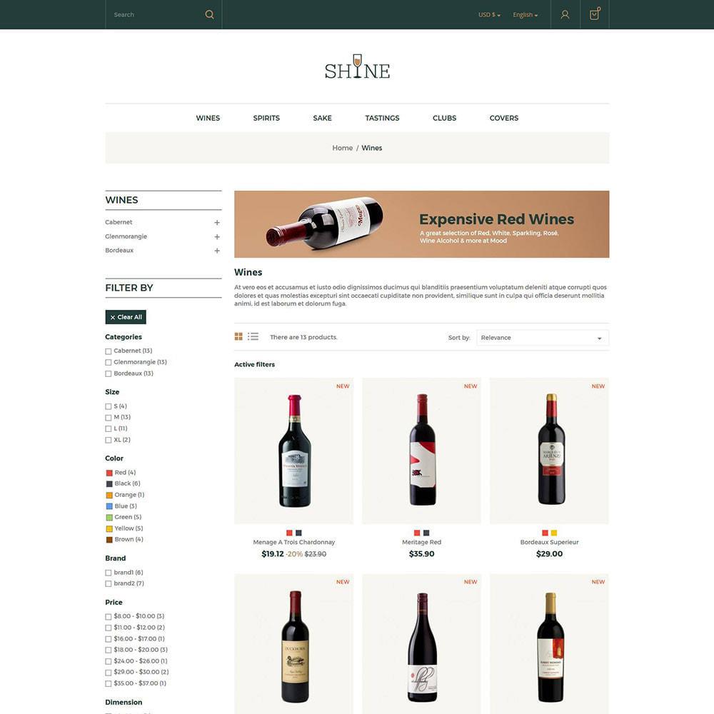 theme - Bebidas y Tabaco - Shine Wine - Tienda de alcohol - 3