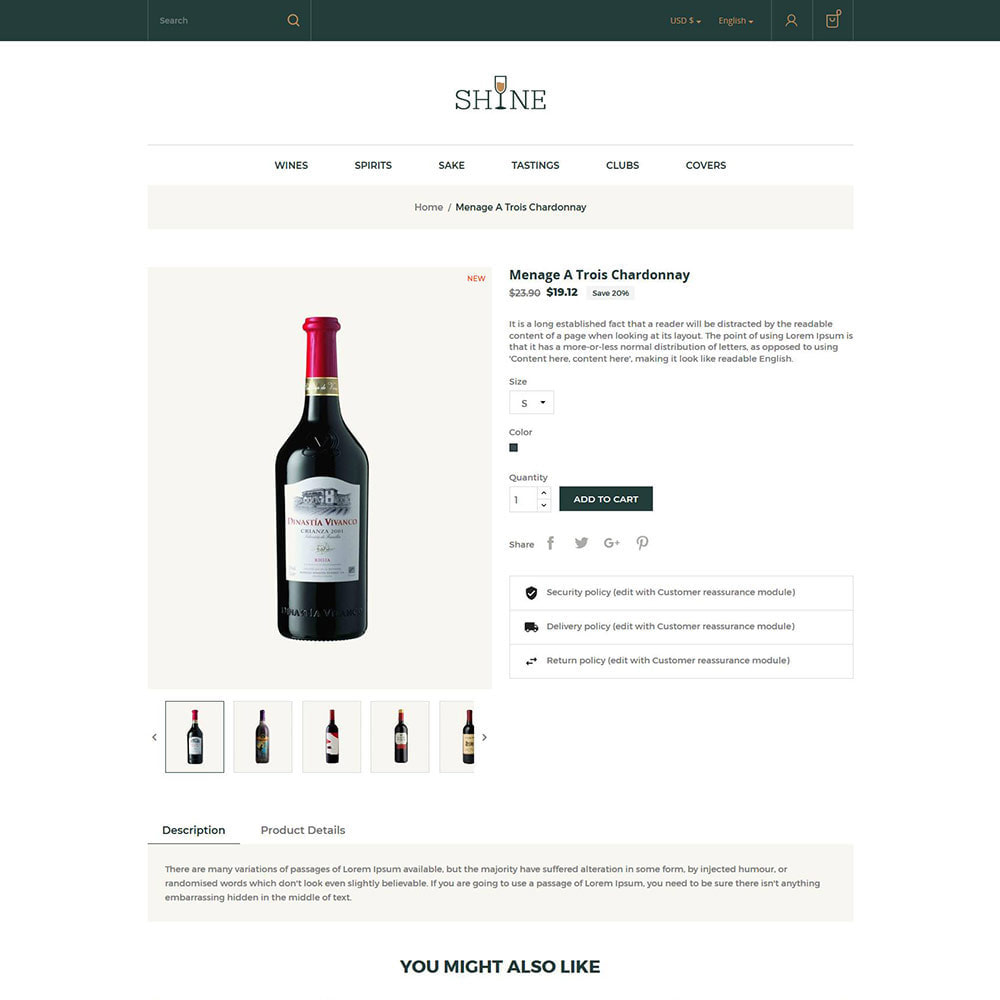 theme - Getränke & Tabak - Shine Wine - Alkoholgeschäft - 6
