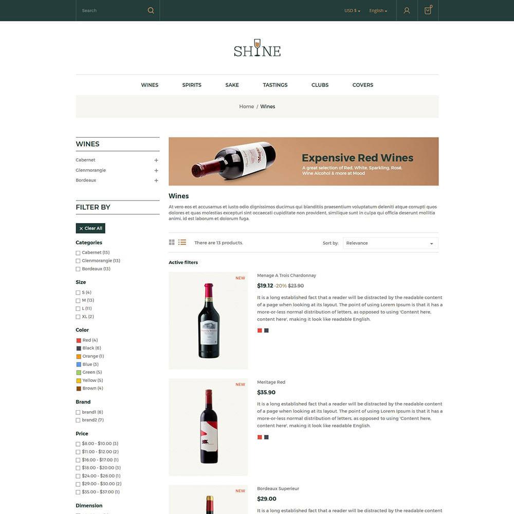 theme - Drink & Wine - Shine Wine - Negozio di alcolici - 5