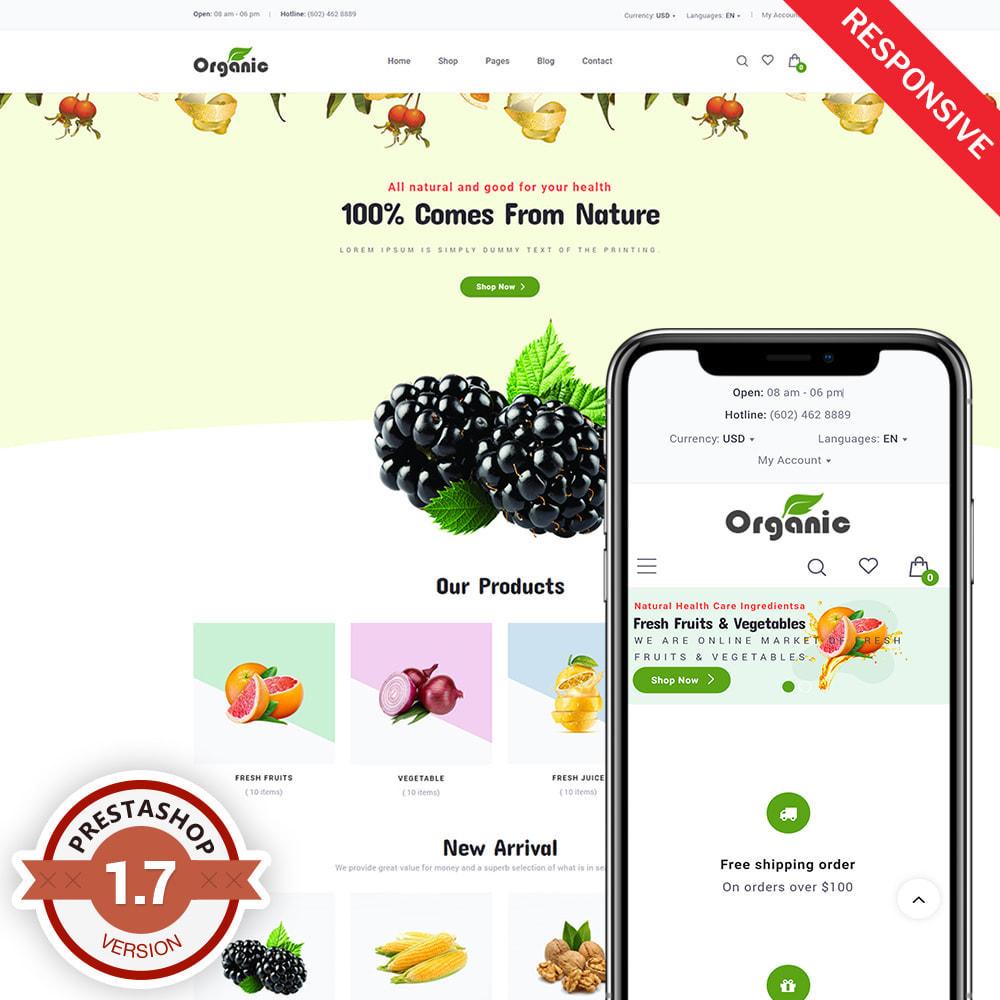 theme - Продовольствие и рестораны - Organic - 1