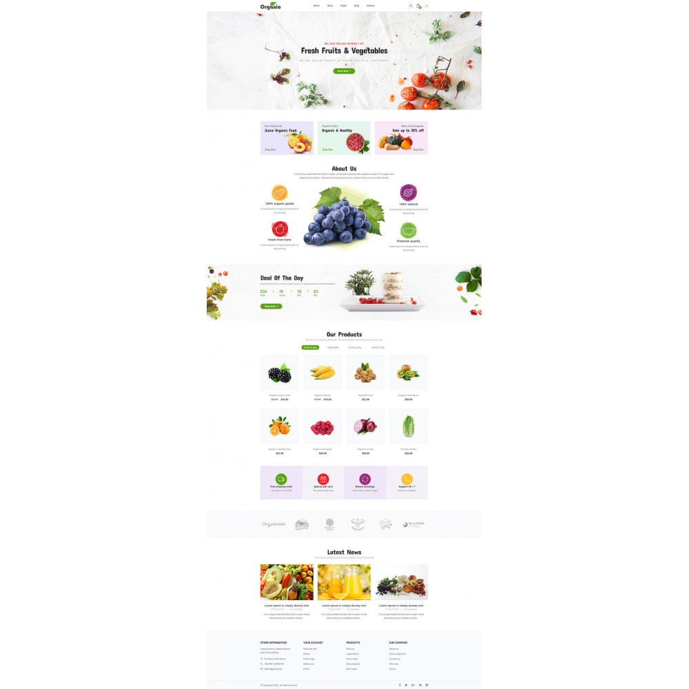 theme - Продовольствие и рестораны - Organic - 7