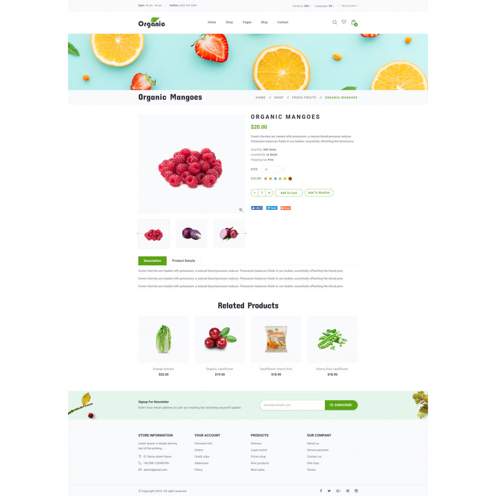 theme - Продовольствие и рестораны - Organic - 11