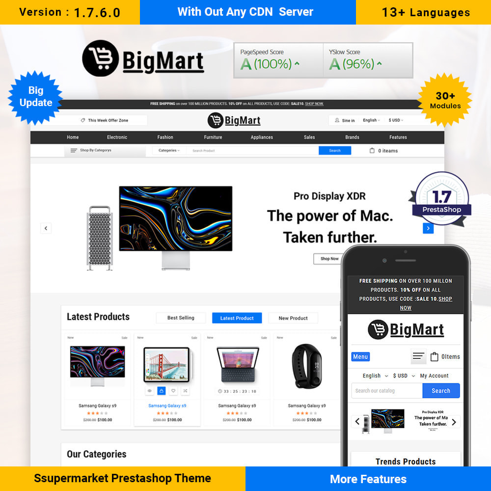 theme - Electronics & Computers - Fashion Store - Big Mart Template - 1