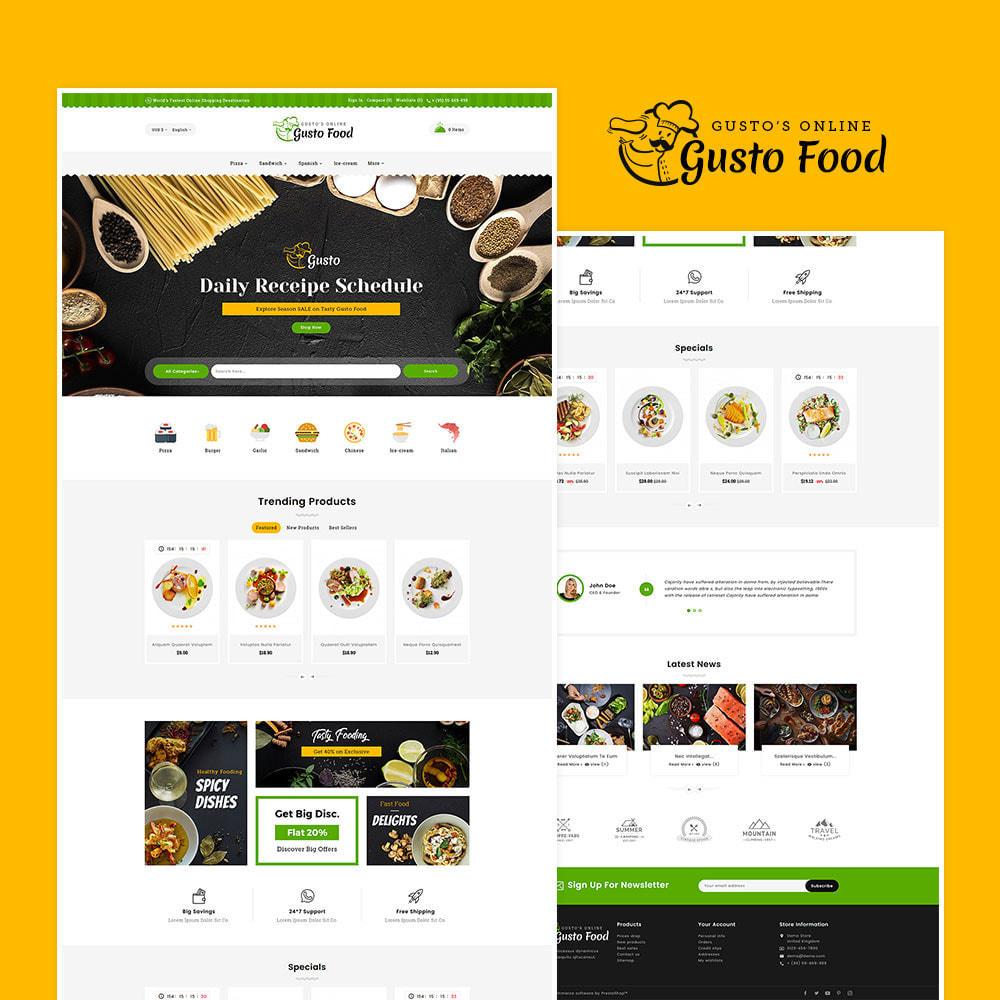 theme - Lebensmittel & Restaurants - Gusto Food - Restaurant Dishes - 2