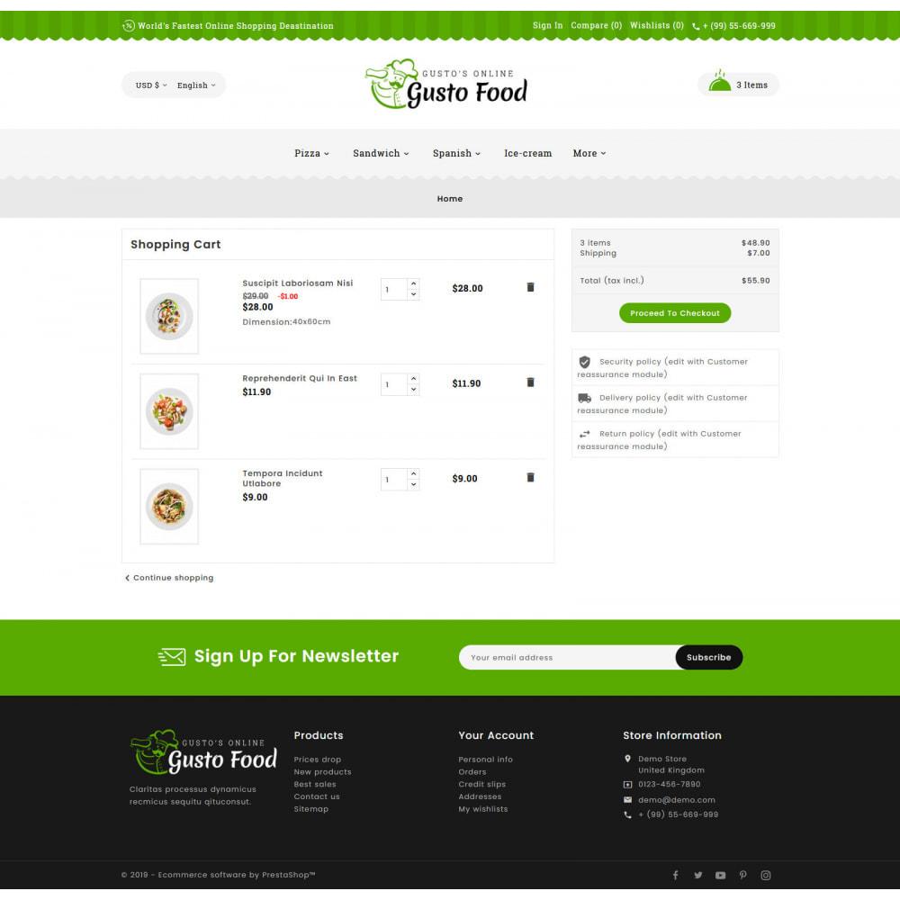 theme - Lebensmittel & Restaurants - Gusto Food - Restaurant Dishes - 6