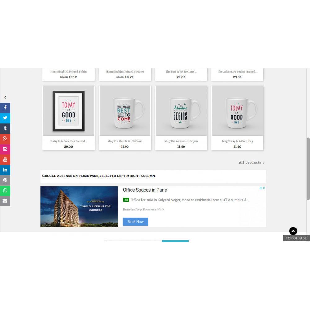 module - Widgets de Redes Sociais - Botões de barra lateral de mídia social - 1