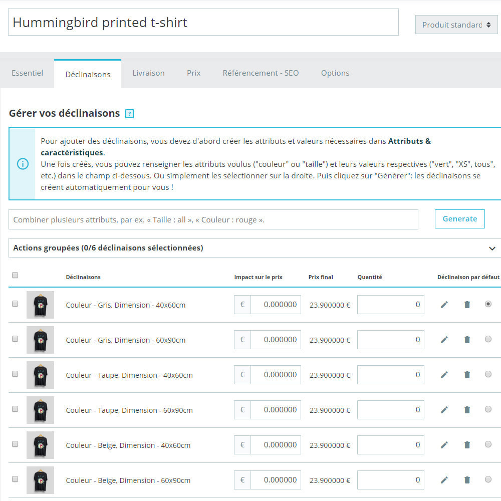 module - Edition rapide & Edition de masse - Bulk / Mass créer des produits combinés - 9