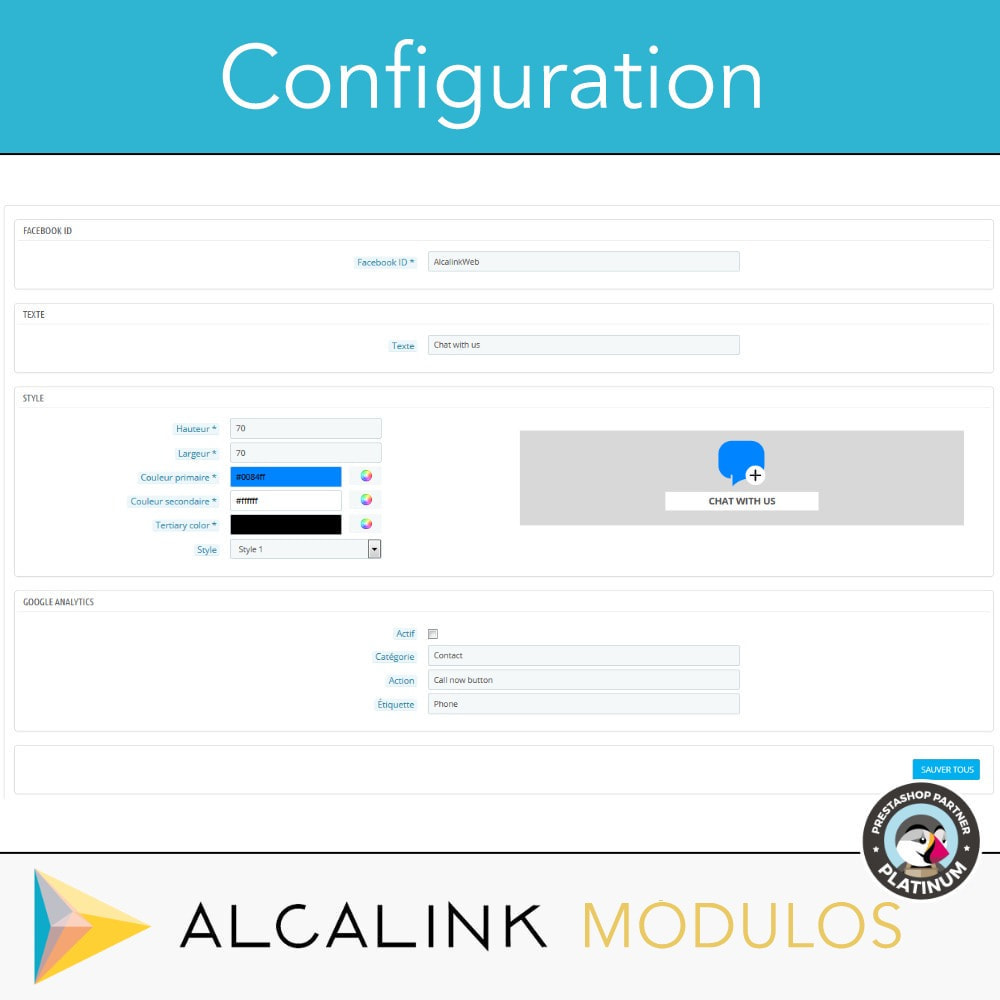 module - Support & Chat Online - Bouton de chat - 2