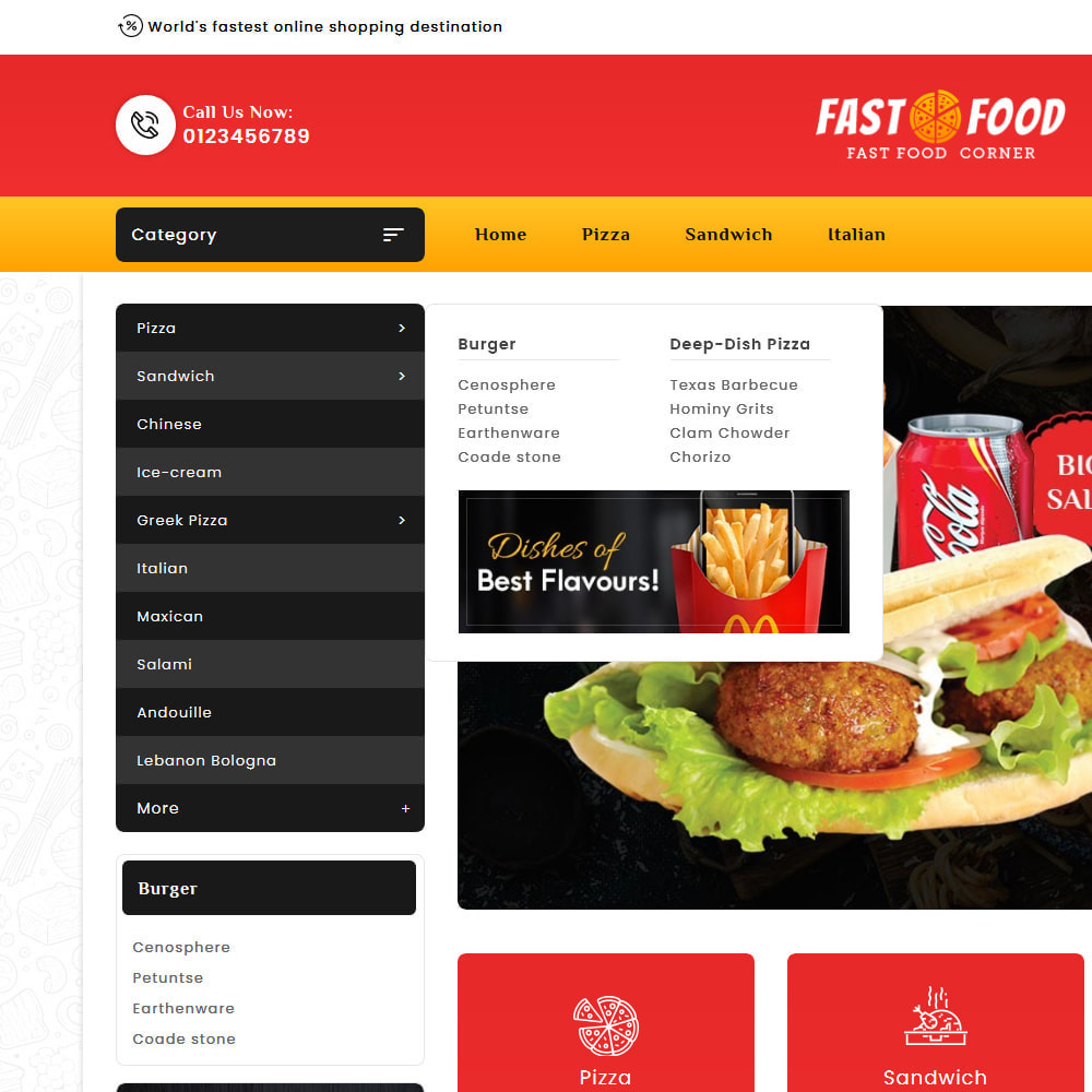 theme - Food & Restaurant - Fast Food & Dinks Corner - 9