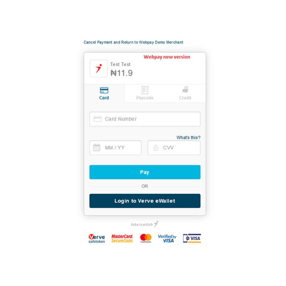 module - Payment by Card or Wallet - Interswitch Webpay - Nigerian Payment - 3