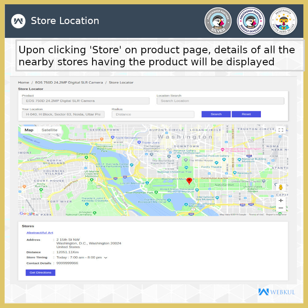 module - International & Localization - Store Locator - Store Pickup, Google Map - 4