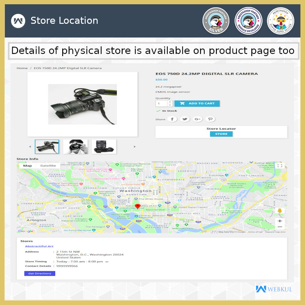 module - Internationaal & Lokalisatie - Store Locator - Store Pickup, Google Map - 5