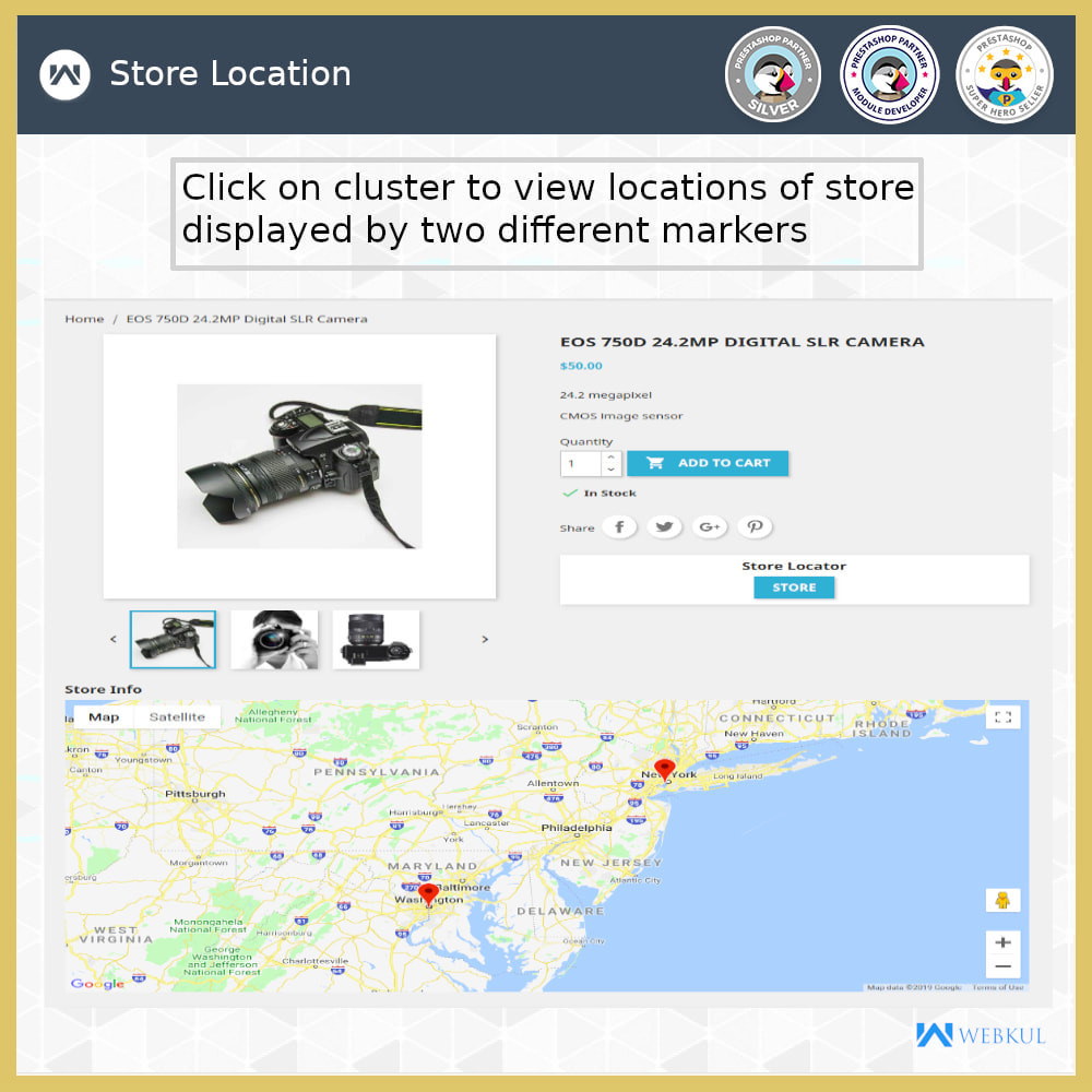 module - International & Localisation - Localisateur de magasin-Collecte de magasin,Google Map - 8