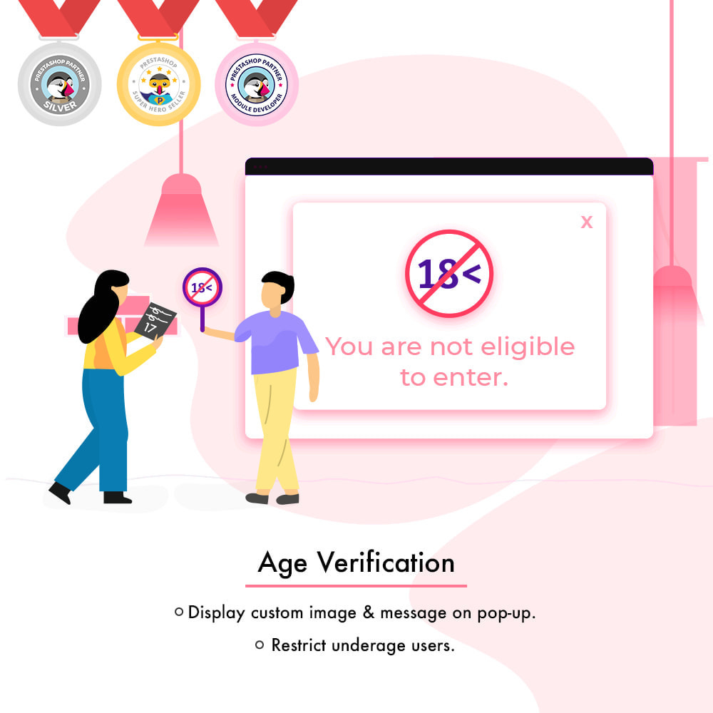 module - Sicherheit & Brechtigungen - Age Verification | Restrict Underage Users - 1