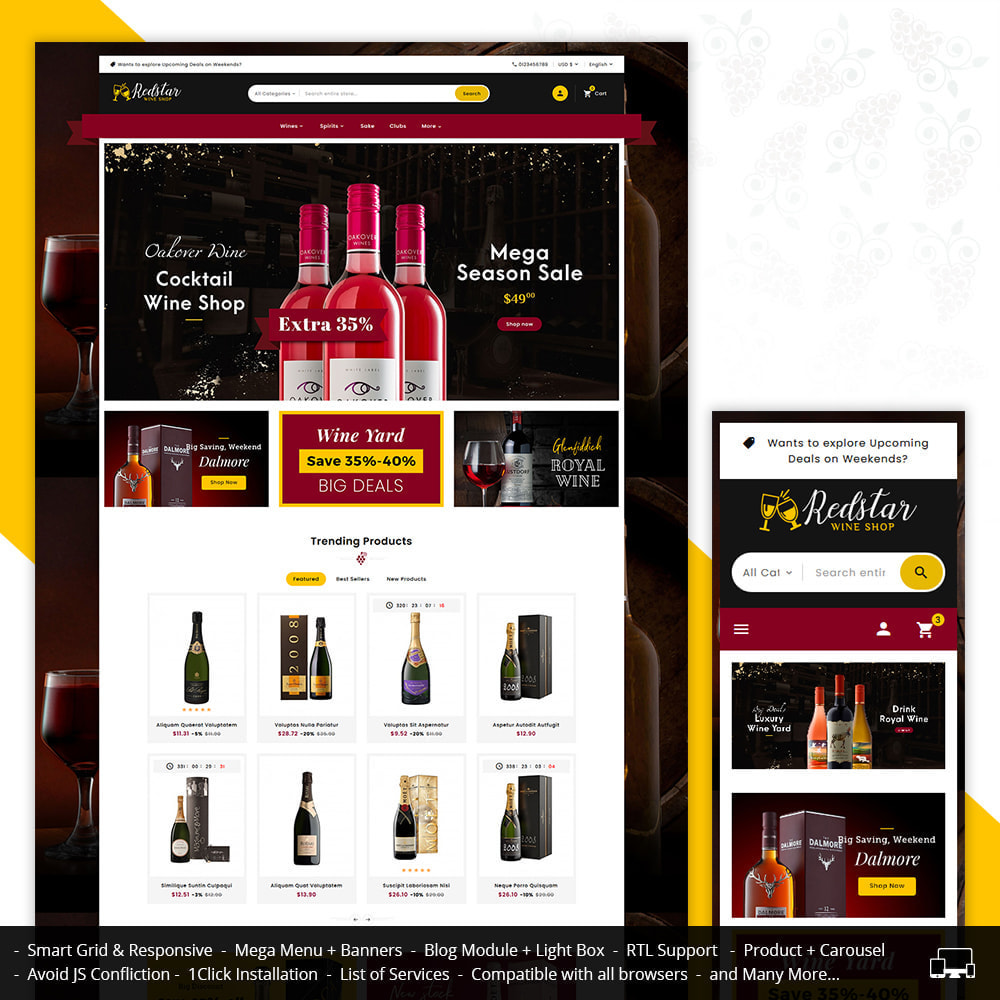 theme - Drink & Tobacco - Mega Wine Store - 1