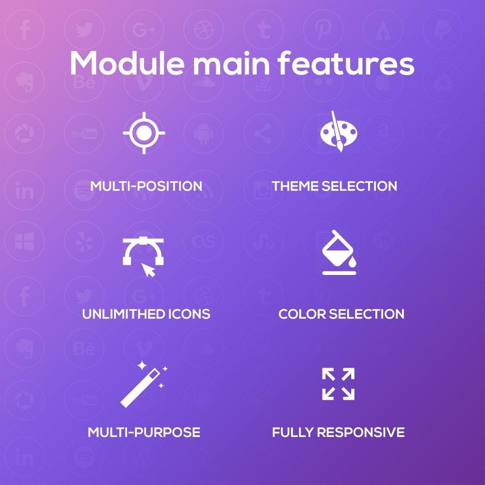 module - Widgets para redes sociales - Smart Social Media Buttons (Icons) - 1