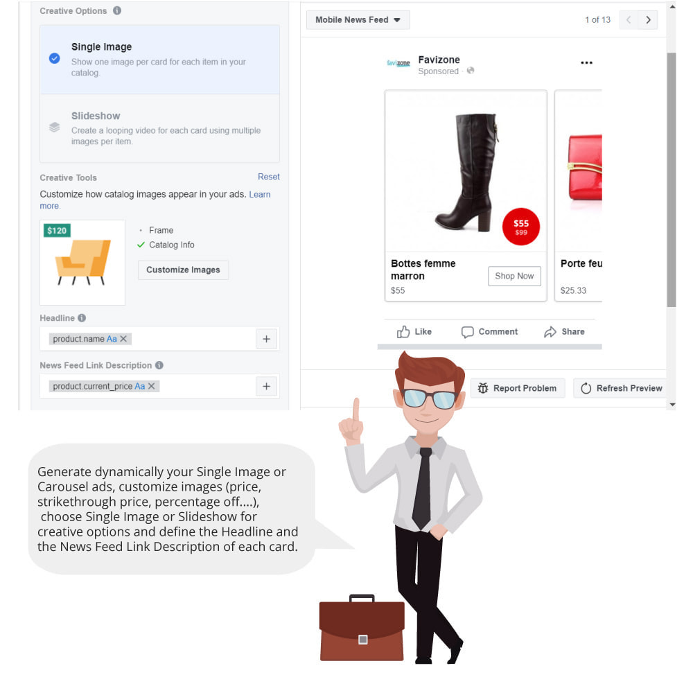 module - Produkten op Facebook & sociale netwerken - Catalog & Pixel for Dynamic Ads & Shop - 5