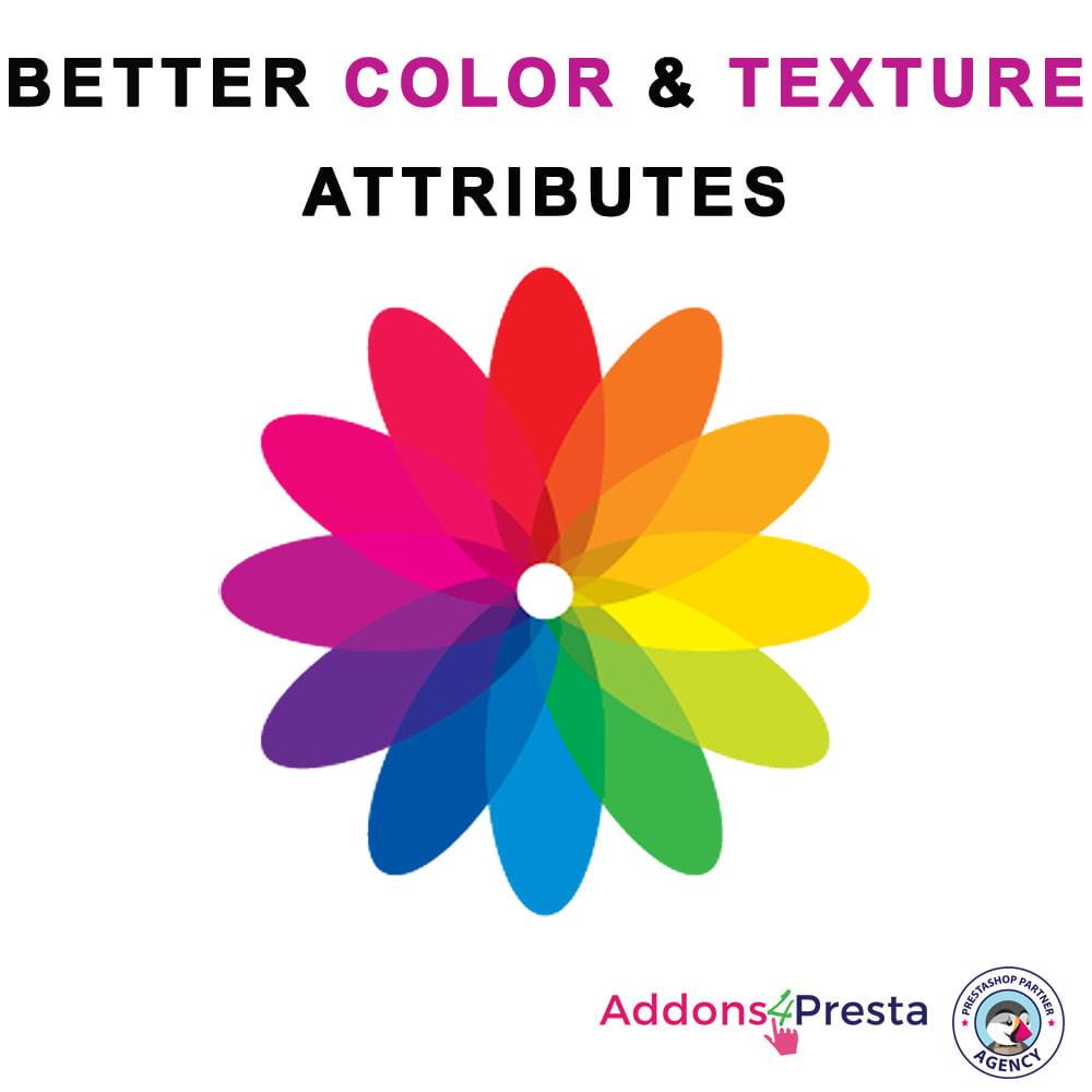 module - Combinazioni & Personalizzazione Prodotti - Better Color & Texture Attributes - 1
