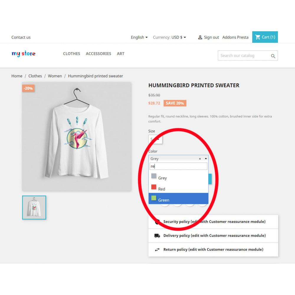 module - Combinazioni & Personalizzazione Prodotti - Better Color & Texture Attributes - 4
