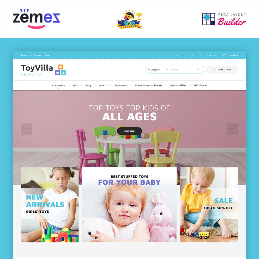 theme - Enfants & Jouets - ToyVilla - Plaything Store - 1