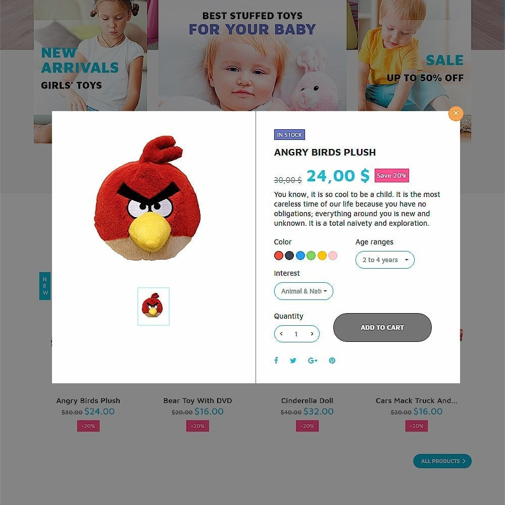 theme - Дети и Игрушки - ToyVilla - Plaything Store - 6